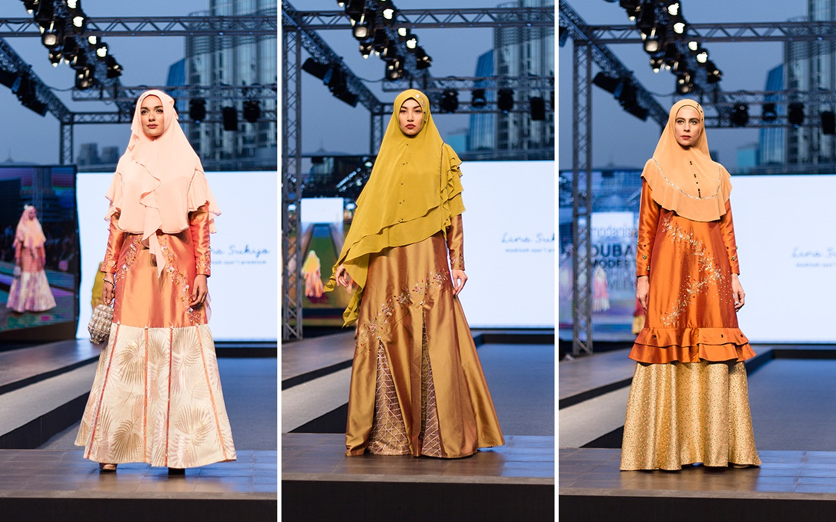 Madinah Syari Premium Lina Sukijo di Dubai Modest Fashion Week